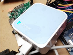 TP-LINK TL-WR802N (accidentally bought the Chinese language firmware one -- saved like $2 though :P)
